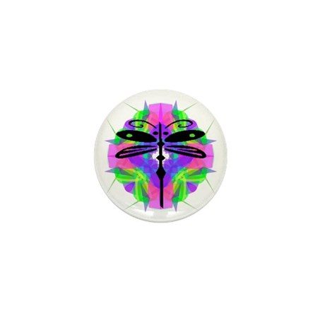 Kaleidoscope Dragonfly Mini Button (100 pack)