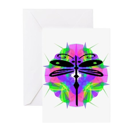 Kaleidoscope Dragonfly Greeting Cards (Pk of 20)