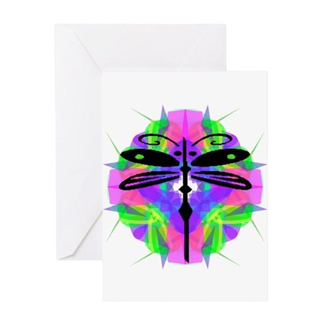 Kaleidoscope Dragonfly Greeting Card