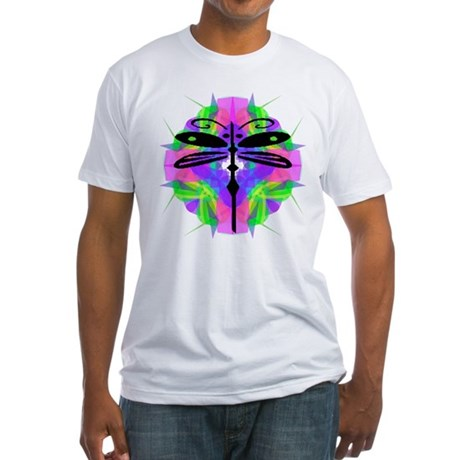 Kaleidoscope Dragonfly Fitted T-Shirt