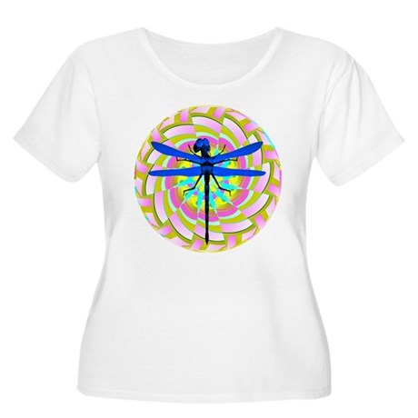 Kaleidoscope Dragonfly Women's Plus Size Scoop Nec