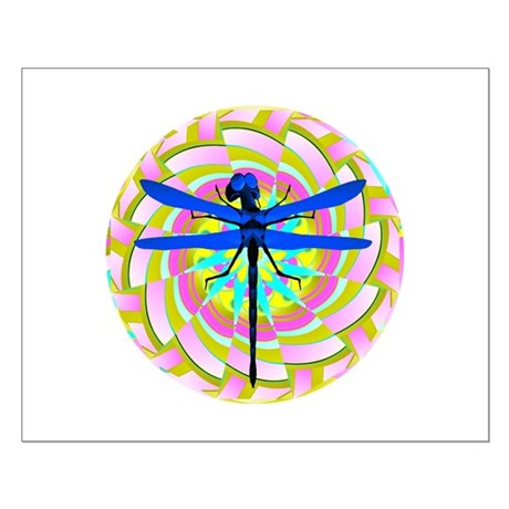 Kaleidoscope Dragonfly Small Poster