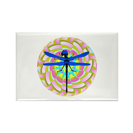 Kaleidoscope Dragonfly Rectangle Magnet (100 pack)