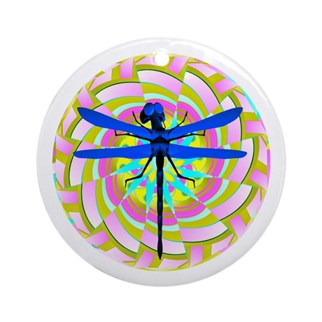 Kaleidoscope Dragonfly Ornament (Round)