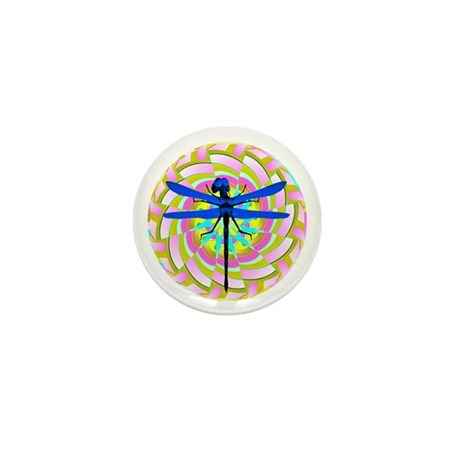 Kaleidoscope Dragonfly Mini Button