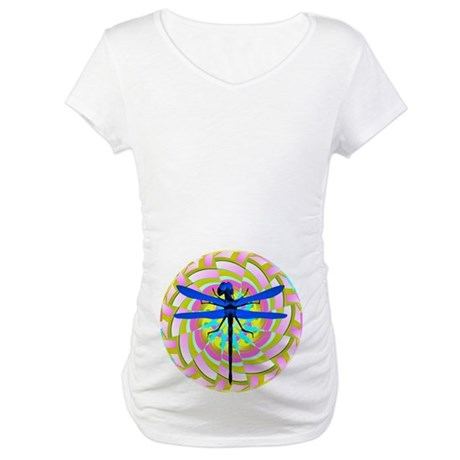 Kaleidoscope Dragonfly Maternity T-Shirt