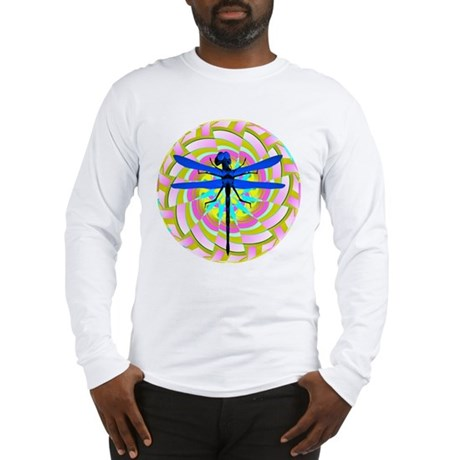 Kaleidoscope Dragonfly Long Sleeve T-Shirt