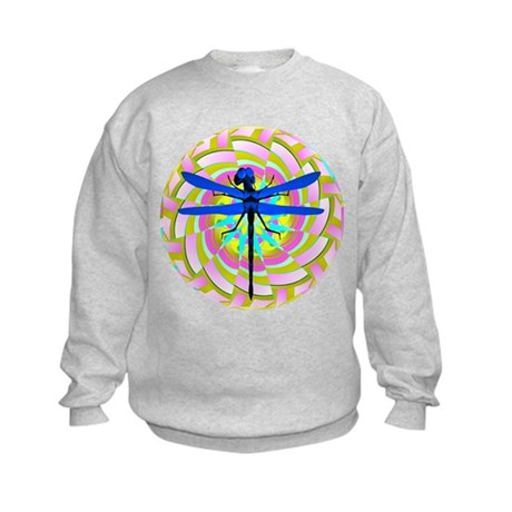 Kaleidoscope Dragonfly Kids Sweatshirt