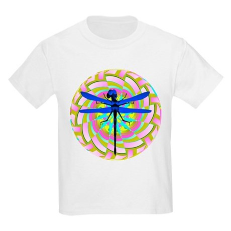 Kaleidoscope Dragonfly Kids Light T-Shirt
