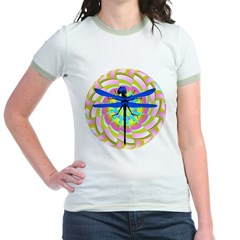 Kaleidoscope Dragonfly Jr. Ringer T-Shirt