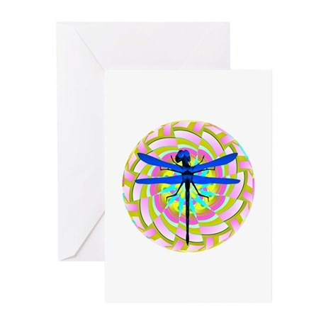 Kaleidoscope Dragonfly Greeting Cards (Pk of 10)