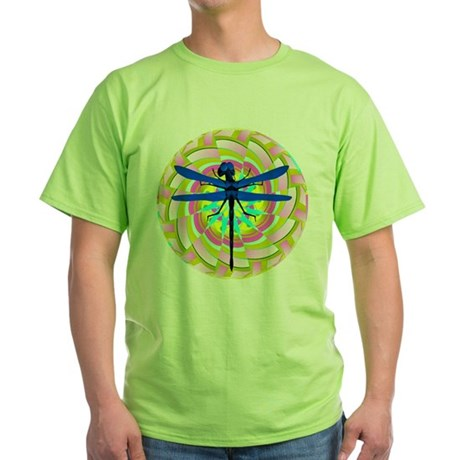 Kaleidoscope Dragonfly Green T-Shirt