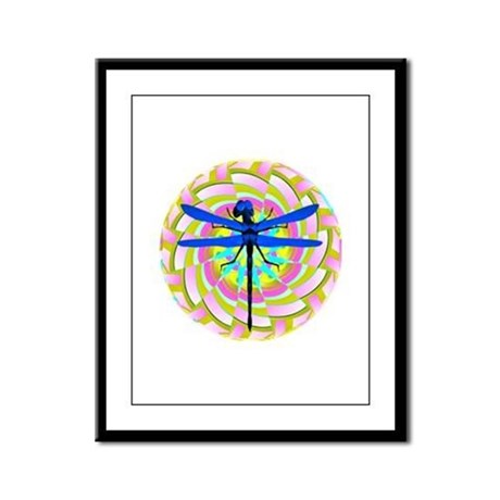 Kaleidoscope Dragonfly Framed Panel Print