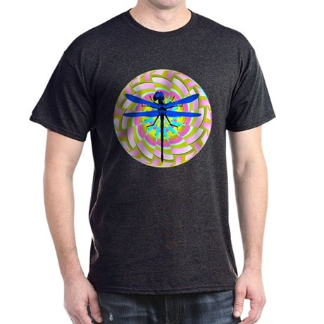 Kaleidoscope Dragonfly Dark T-Shirt