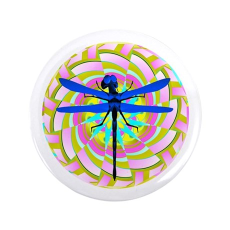 "Kaleidoscope Dragonfly 3.5"" Button (100 pack)"