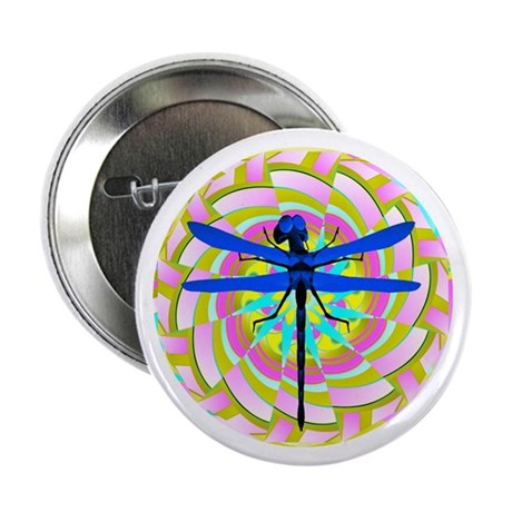 "Kaleidoscope Dragonfly 2.25"" Button"