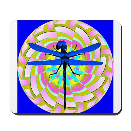 Kaleidoscope Dragonfly Mousepad