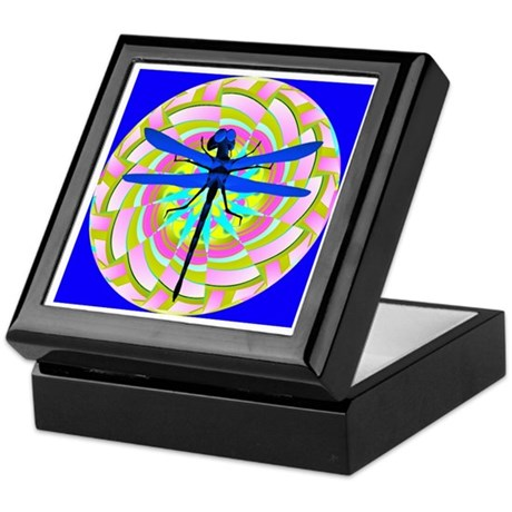 Kaleidoscope Dragonfly Keepsake Box