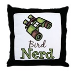 Bird Nerd Birding Ornithology Throw Pillow