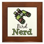 Bird Nerd Birding Ornithology Framed Tile