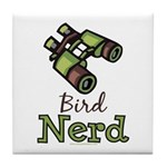 Bird Nerd Birding Ornithology Tile Coaster