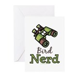Bird Nerd Birding Ornithology Greeting Cards (Pk o