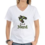 Bird Nerd Birding Ornithology Women's V T-Shirt