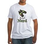 Bird Nerd Birding Ornithology Fitted T-Shirt