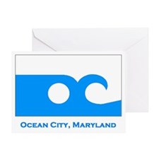 Ocean City MD Flag Greeting Card