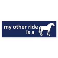 My Other Ride Is A Horse Bumper Car Sticker