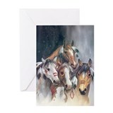 Funny Horses Greeting Card