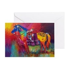 Unique Native americans Greeting Card