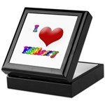 I Love (Heart) Hillary Keepsake Box