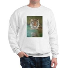 Tiger in Water Sweatshirt