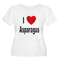 I Love Asparagus Women's Plus Size Scoop Neck T-Sh