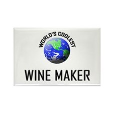 World's Coolest WINE MAKER Rectangle Magnet