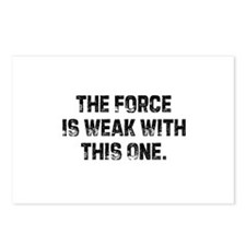 The Force Is Weak With This O Postcards (Package o