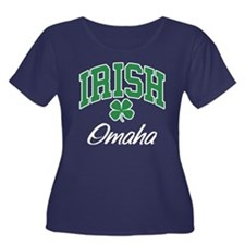 Omaha Irish Women's Plus Size Scoop Neck Dark T-Sh