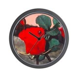 Wall Clock FLOWER AND LADYBUG