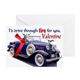 ISADORA DONKEY VALENTINE Greeting Cards (Pk of 10)