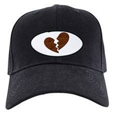 Broken Wood Heart anti-Valentine Baseball Hat