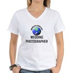 World's Coolest WEDDING PHOTOGRAPHER Women's V-Nec