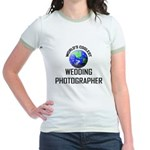 World's Coolest WEDDING PHOTOGRAPHER Jr. Ringer T-