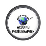 World's Coolest WEDDING PHOTOGRAPHER Wall Clock
