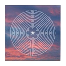 Sunrise Labyrinth II Tile Coaster