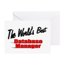 """""""The World's Best Database Manager"""" Greeting Card"""