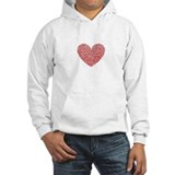 Crumbled Red Heart Valentine Jumper Hoody