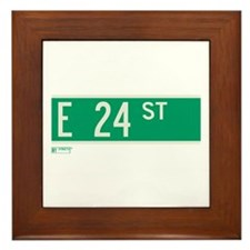 24th Street in NY Framed Tile