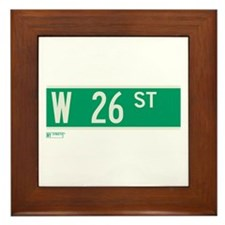 26th Street in NY Framed Tile
