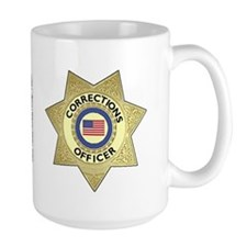Large Corrections Badge Mug